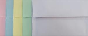 4x6 Photo Envelopes: Pastels Mix
